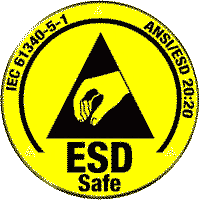 ESD safe certification logo